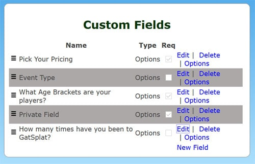 customfields