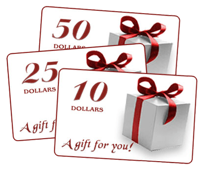 On line Gift Certificates