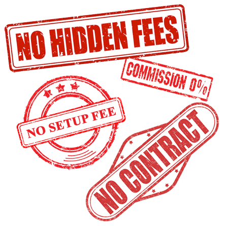 No hidden fees on booking software