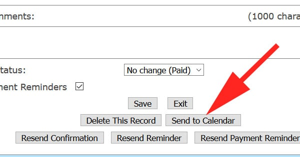 Push existing reservations to your calendar